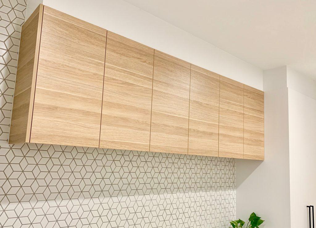 custom wall cupboard Oak polytec